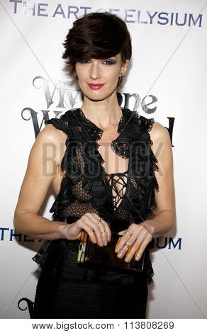 Paz Vega at the Art Of Elysium's 9th Annual Heaven Gala held at the 3LABS in Culver City, USA on January 9, 2016.