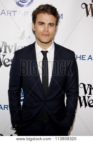 Paul Wesley at the Art Of Elysium's 9th Annual Heaven Gala held at the 3LABS in Culver City, USA on January 9, 2016.
