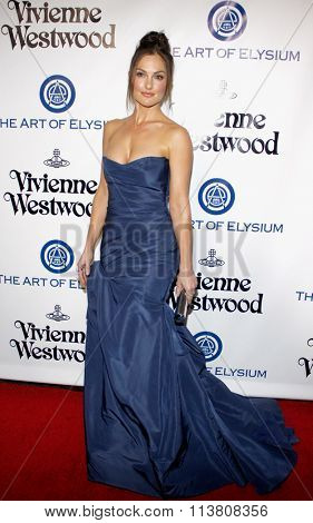 Minka Kelly at the Art Of Elysium's 9th Annual Heaven Gala held at the 3LABS in Culver City, USA on January 9, 2016.