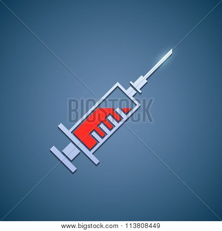 Logo Medical Syringe.