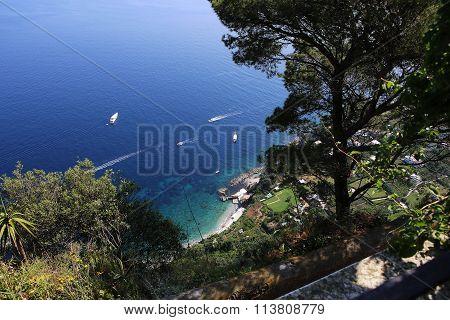 Coastline Of Capri Island, Capri, Italy
