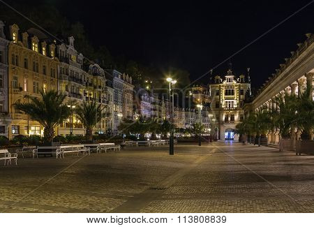 Square In Karlovy Vary, Czech Republic