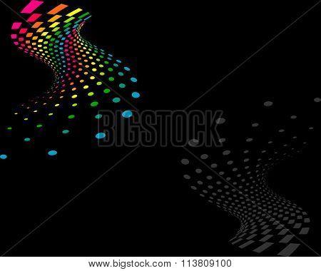 Background Composition Spectrum, Web Template (Halftone)