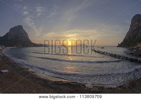 Dawn On The Sea. Crimea, September.