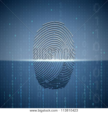 Scanning A Fingerprint. Technology Background.