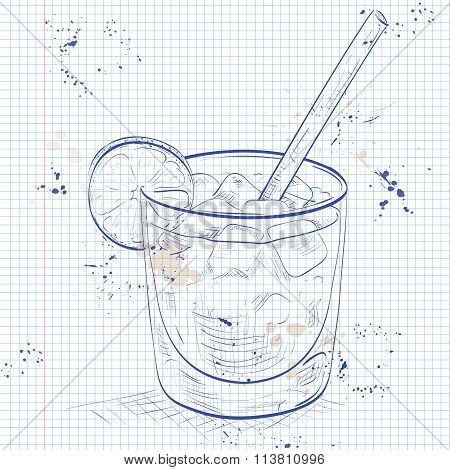 Cocktail Spritz on a notebook page
