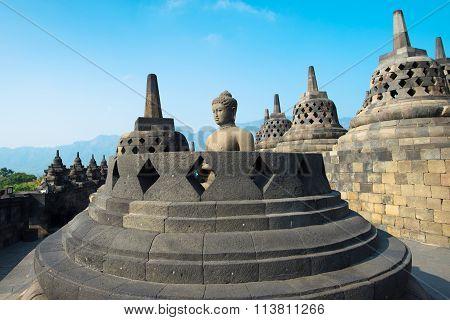 Buddha Statue At Candi Borobudur
