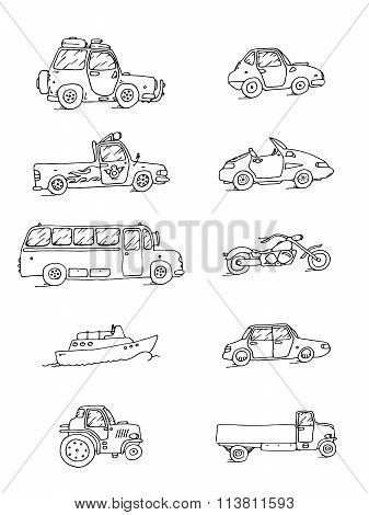 Transport Sketch Set