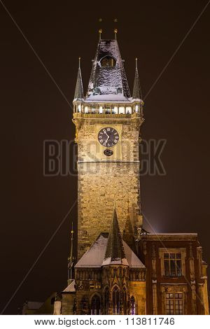 Old Town Hall Clock Tower In Prague