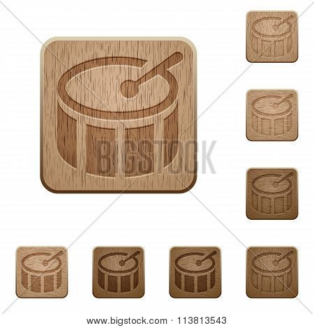 Drum Wooden Buttons