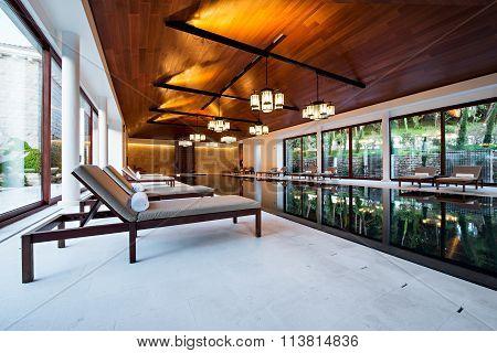 Relaxing Indoor Swimming Pool