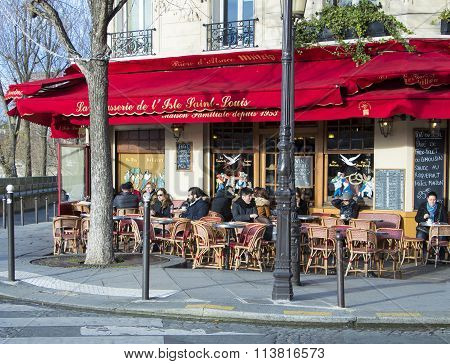 The Brasserie De L'ile Saint Louis, Paris, France.