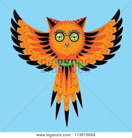 The owl, a cat