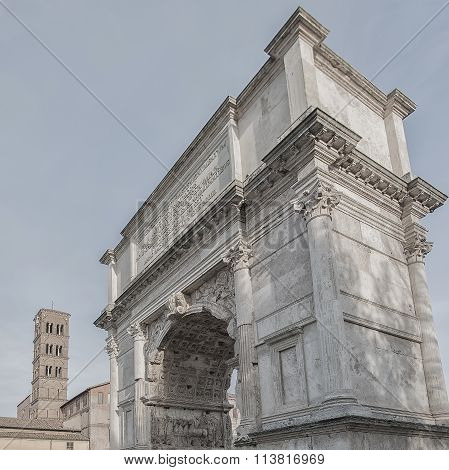 Rome Arch Of Titus Square Composition