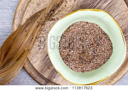 Flaxseeds With Blonde Hair