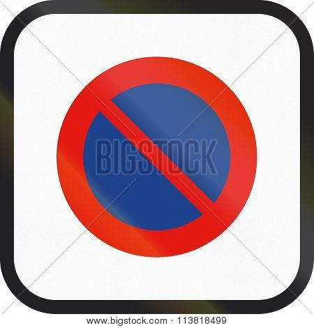 Road Sign Used In Spain - Parking Restriction