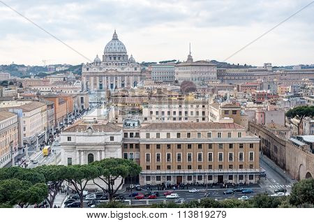 View Of The St Peter's Basilica