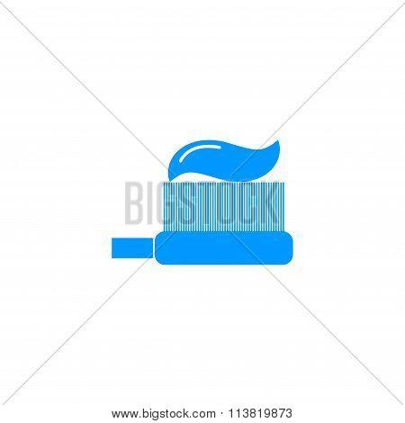 Toothbrush Icon. Flat Design Style