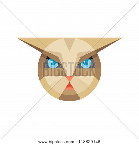 Cat head - vector sign illustration. Cat logo. Cat animal symbol. Cat head vector illustration.