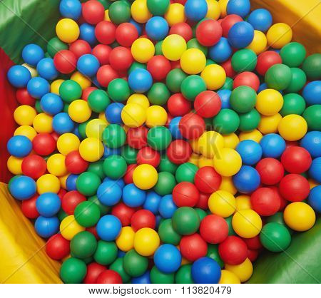 Multicolored Plastic Balls