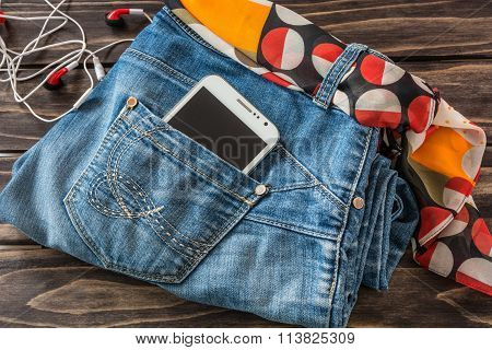 Still Life Of Random Objects Of Modern Woman outfit