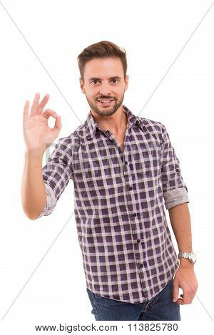 Man Signaling Ok