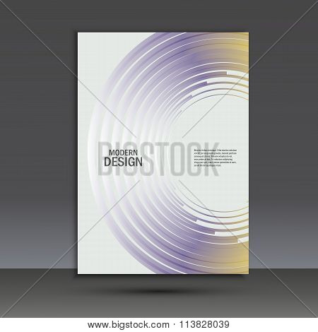 Vector color line twirl design. Cover template
