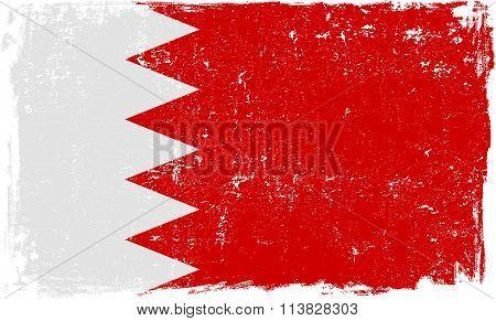 Bahrain Vector Flag on White