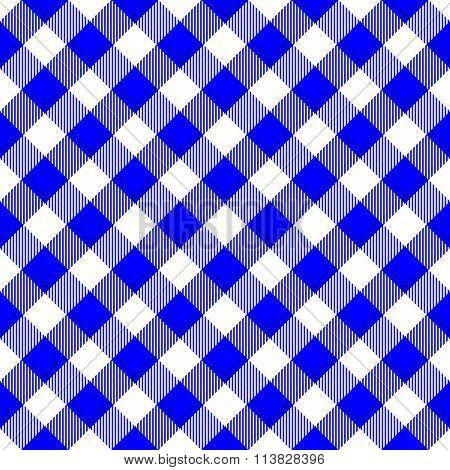 Abstract checkered diagonally blue white background