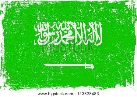 Saudi Arabia Vector Flag on White