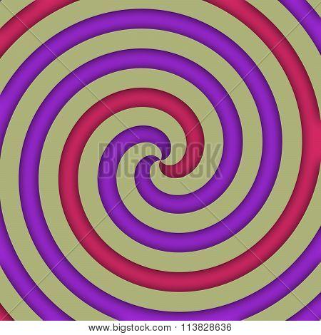 Beige red purple spiral pattern