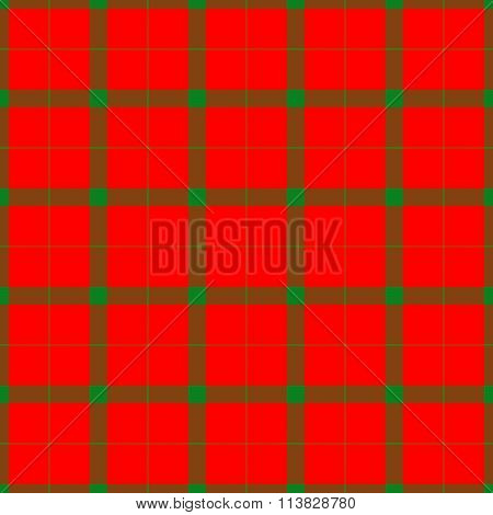 Red green checkered textured pattern like a fabric