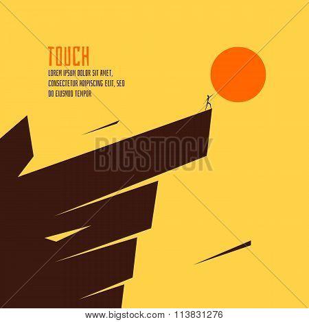 Touch the sun vector illustration