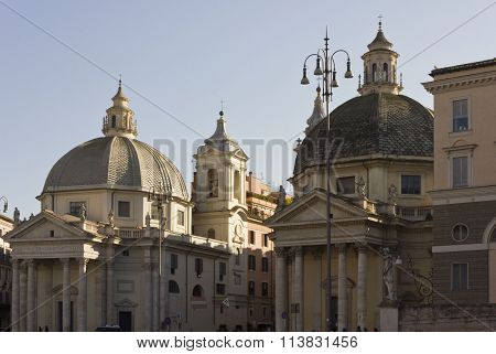 The Twin Churches Of Santa Maria In Montesanto And Santa Maria Dei Miacoli