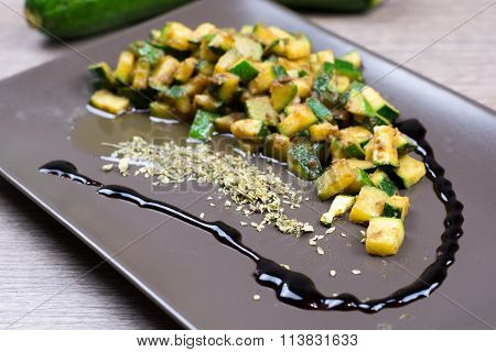 Zucchini With Aromatic Vinegar And Spices