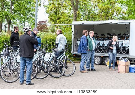 Bicycle Tour With Artificial Heart Patients Of Elisabeth-krankenhaus