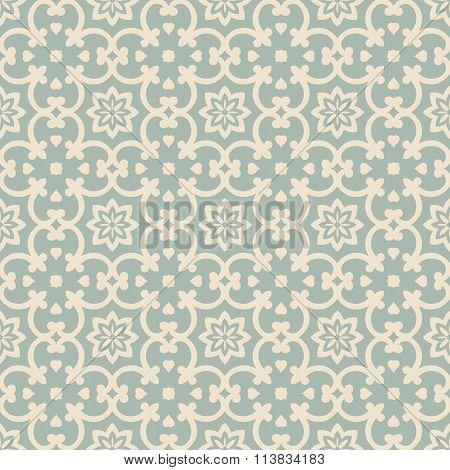 Elegant antique background image of curve flower kaleidoscope pattern.