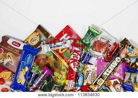 Candies, chocolates, sweets