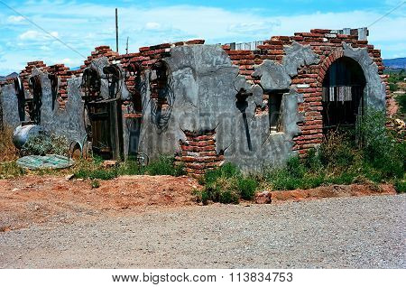 Old Dilapidated Brick Shack