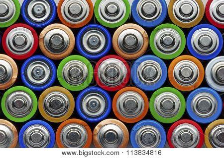 Batteries top view