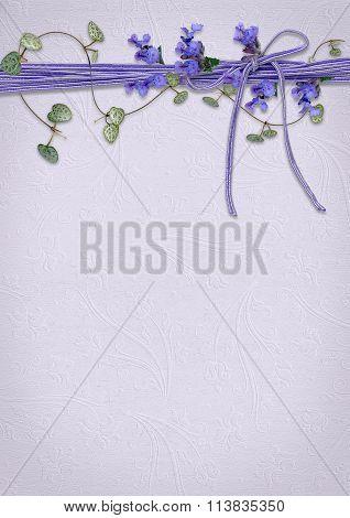 lavender flower and ivy border
