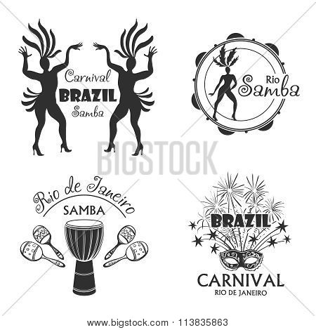 Brazilian Carnival big set of  logo and emblem