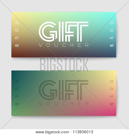 Set of gift (discount) voucher cards - minimalistic version