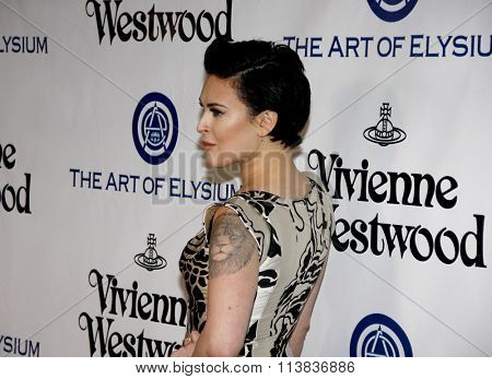 Rumer Willis at the Art Of Elysium's 9th Annual Heaven Gala held at the 3LABS in Culver City, USA on January 9, 2016.