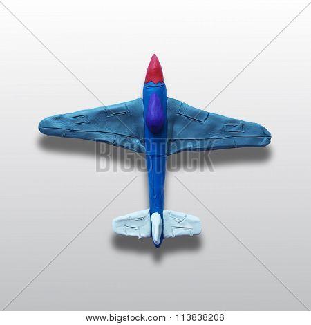 Toy plasticine plane