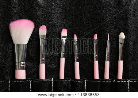 Makeup Brush Set In The Black Case