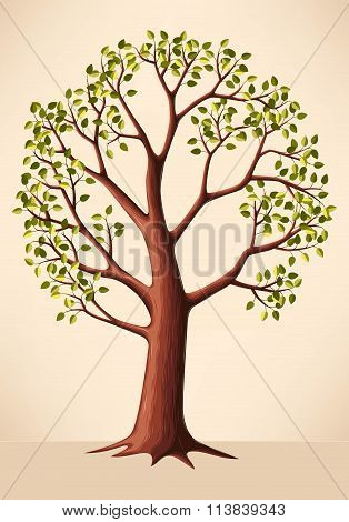 Illustration of green tree