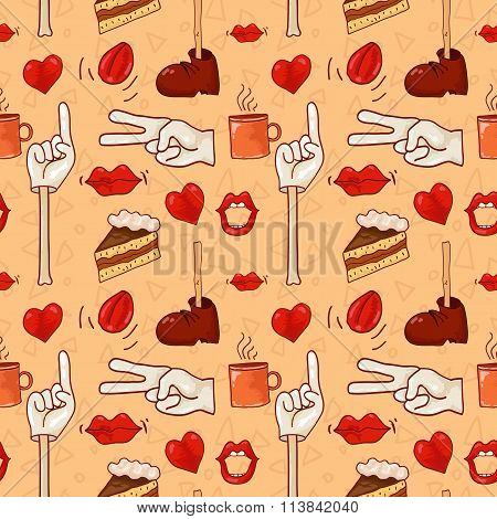 Hipster pattern for cafe