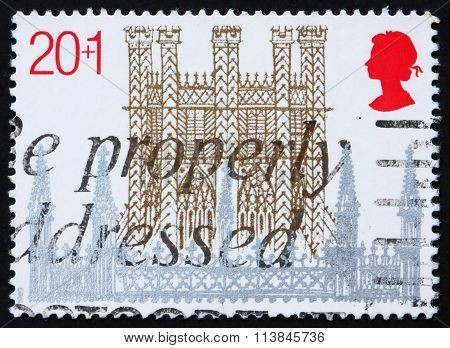 Postage Stamp Great Britain 1989 Ely Cathedral, Cambridgeshire