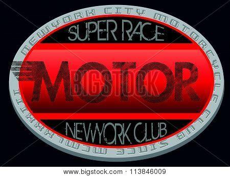 Motorcycle Club New York Illustration ,racing, Motorcycle ,vintage ,retro, T-shirt Rider